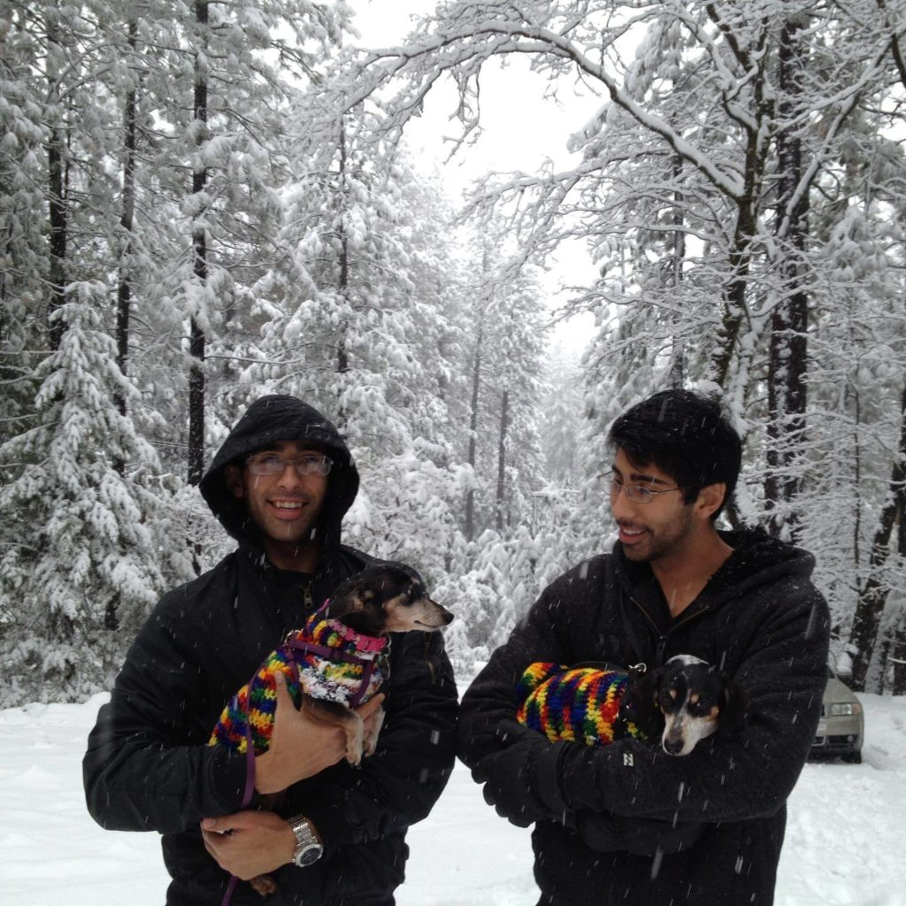 Rahm's twin sons, Ashok and Krishna creating precious memories with their pets :)