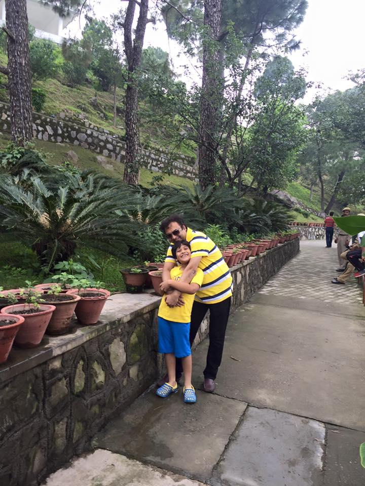 Dr Gupta with son Akshaj